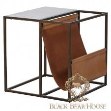 Nowoczesny stolik skóra black bear house