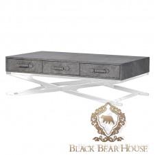 skórzany stolik kawowy vintage loft black bear house