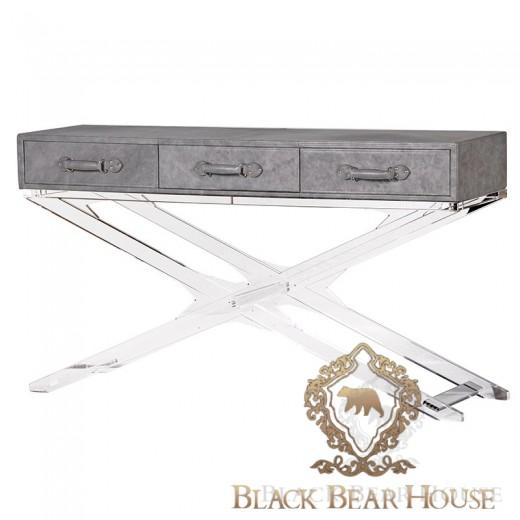 Nowoczesna konsola beton black bear house