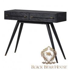 konsola skórzana vintage loft black bear house