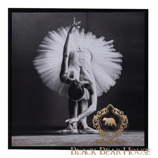 obraz grafika zdjęcie dekoracja ścienna baletnica black bear house