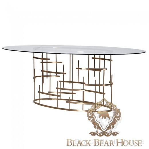 stół złoty black bear house