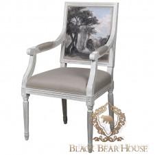 francuskie krzesło z malowidłem black bear house