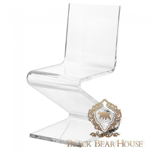krzesło transparentne black bear house