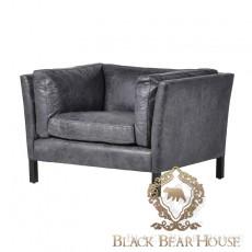 skórzany fotel vintage black bear house