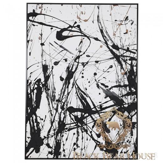 obraz abstrakcja black bear house