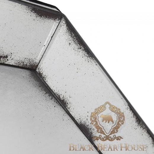 dekoracyjne postarzane lustro black bear house