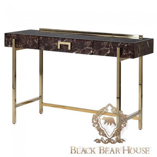 biurko modern classic w skórze black bear house