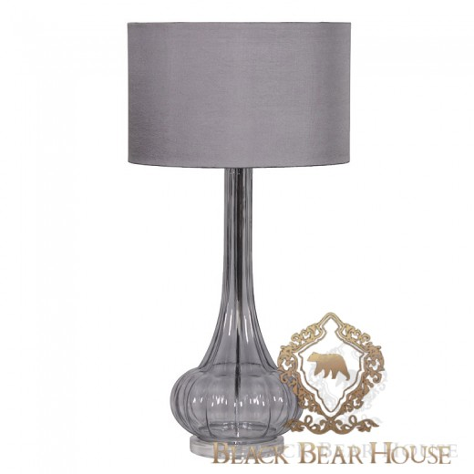 lampa szklana niebieska black bear house