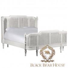łóżko francuskie rattanowe black bear house