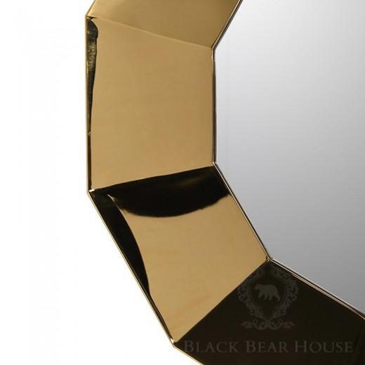 lustro złote modern classic black bear house