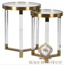 zestaw stolików złotych modern classic black bear house.009