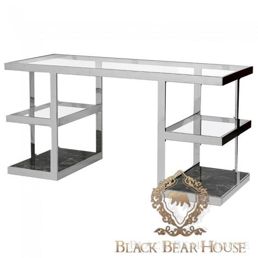 biurko z marmurem black bear house rem modern classic