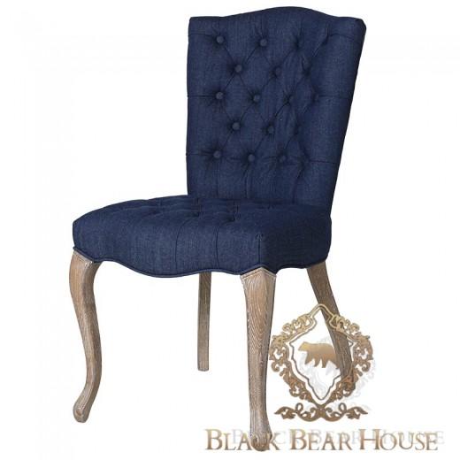 krzesło granatowe w stylu hamptons black bear house