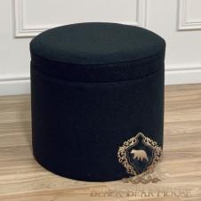sofa czarna modern classic black bear house.007