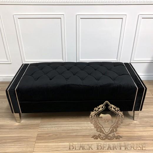 pufa czarna glamour black bear house.001