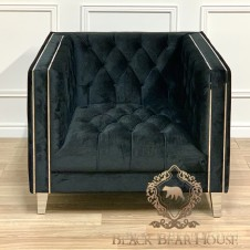 sofa czarna modern classic black bear house.002