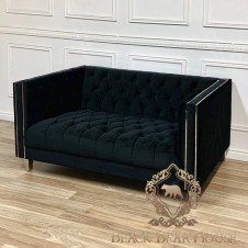 sofa czarna modern classic black bear house.004