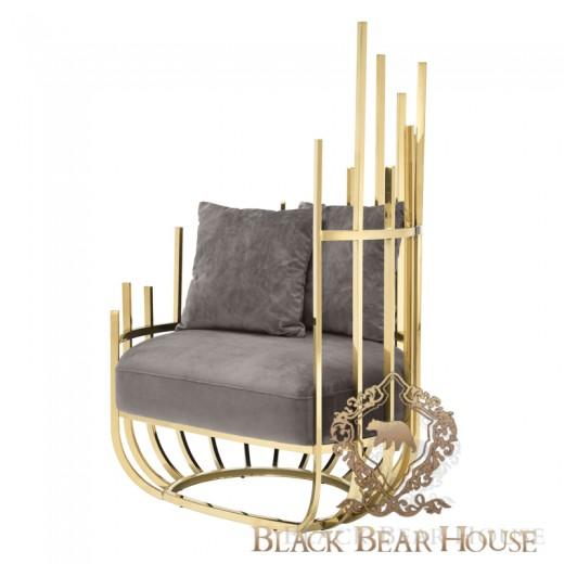 fotel luksusowy modern classic black bear house eichholtz.001