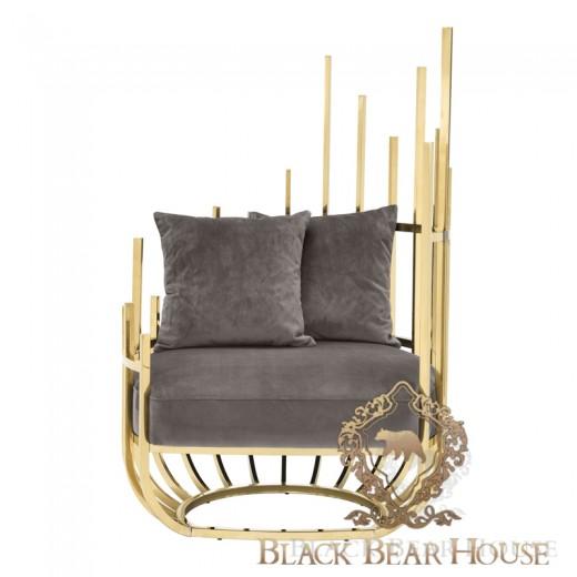 fotel luksusowy modern classic black bear house eichholtz.002
