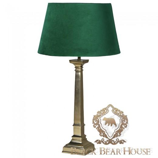 lampa z welurowym zielonym abażurem black bear house.007