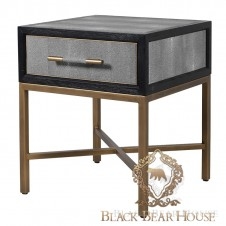 szafka skórzana meble modern classic black bear house.006