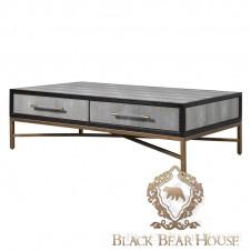skórzany stolik kawowy  modern classic black bear house.008