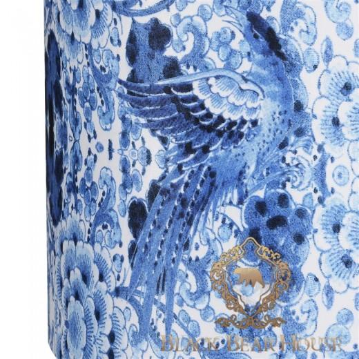 biało niebieska lampa w stylu hamptons.001