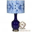 lampa waza stołek ceramiczny biało niebieski black bear house.001
