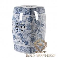 lampa waza stołek ceramiczny biało niebieski black bear house.002