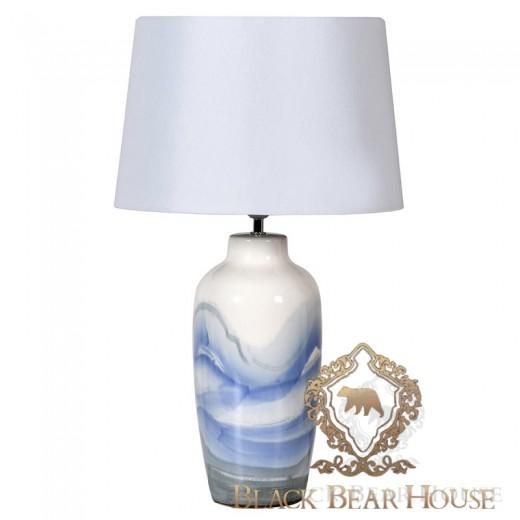 niebieska lampa stolikowa hamptons black bear house.002