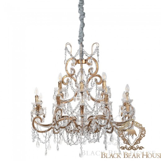 lampa żyrandol francuski modern classic black bear house.023
