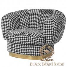 fotel wstylu nowojorskim amerykańskim modern classic black bear house.001
