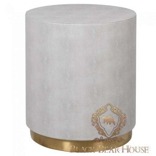 stolik stołek skórzany ze złotem modern classic black bear house.001